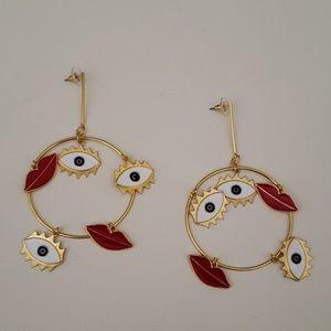 Lip/ earrings